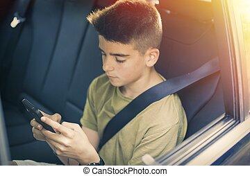 モビール, 車の 電話, 子供