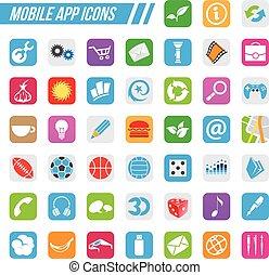 モビール, app, アイコン