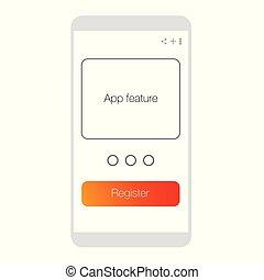 モビール, app, 記録, ux