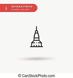 モビール, editable, stroke., element., デザイン, 網, 完全, icon., ベクトル, あなたの, モグラ, 単純である, プロジェクト, アイコン, イラスト, 色, テンプレート, 現代, pictogram, ビジネス, シンボル, ui, antonelliana