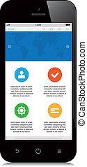 モビール, webdesign, 白い背景, 敏感
