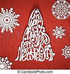 モミツリー, イラスト, ベクトル, 背景, 白い赤