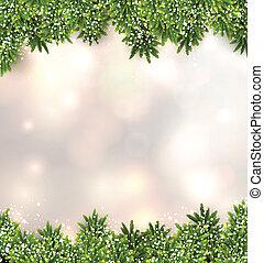モミ, バックグラウンド。, クリスマス