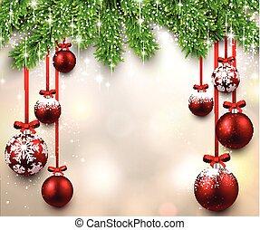 モミ, フレーム, branches., クリスマス