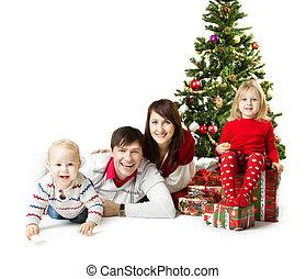 モミ, 贈り物, 家系, 箱, クリスマス