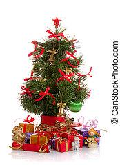 モミ, 飾られる, 木, クリスマス