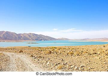 モロッコ, アフリカ, 湖, 砂漠