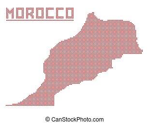 モロッコ, アフリカ, 点, 地図