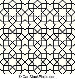 モロッコ, アラビア, pattern., seamless