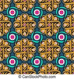 モロッコ, パターン, アラベスク, tile.