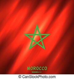 モロッコ, 国旗, 背景