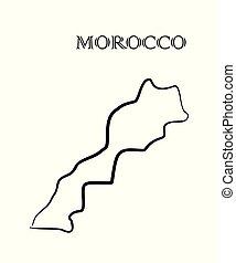 モロッコ, 地図