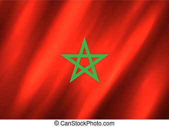 モロッコ, 旗, 背景
