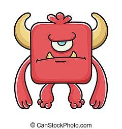 モンスター, 怒る, 悪魔, 漫画, 赤の広場
