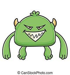 モンスター, 漫画, 小悪魔, 悪, 緑