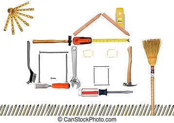 モンタージュ, 家, 道具