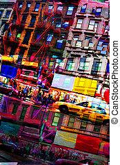 モンタージュ, 都市, 抽象的