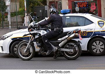 モーターバイク, 士官, 警察, イスラエル