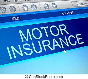 モーター, 保険, concept.