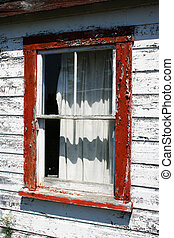 モーテル, 古い, 窓