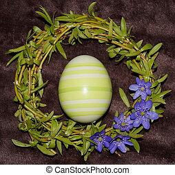 ヤナギ, 卵, 花輪, イースター