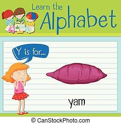 ヤムイモ, y, 手紙, flashcard