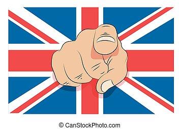 ユニオンジャック, 指を 指すこと