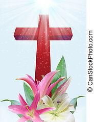 ユリ, キリスト教徒, 花, 交差点