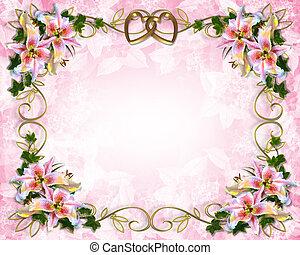 ユリ, 招待, 結婚式, 花