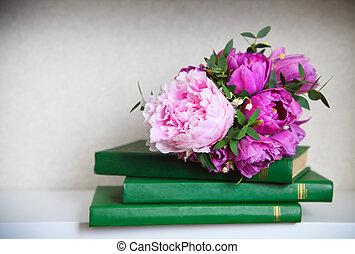 ユリ, 花束, 結婚式, チューリップ, ピンク, シャクヤク, valle