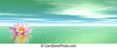 ユリ, 花, 緑, 海洋