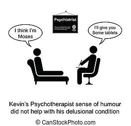 ユーモア, 精神療法