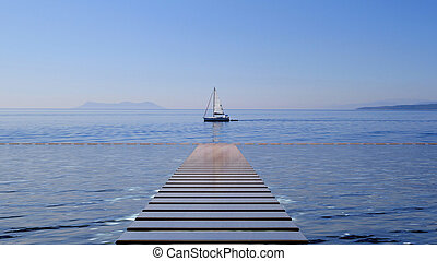 ヨットを航海すること, 海