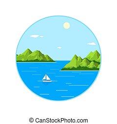 ヨット, 海