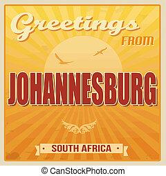 ヨハネスバーグ, 南アフリカ, 型, ポスター