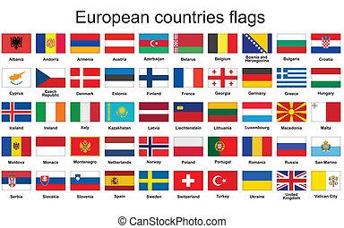 ヨーロッパの旗, 国