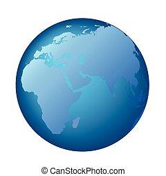 ヨーロッパの 地球, アフリカ, アジア