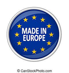 ヨーロッパ, ボタン, 作られた, -