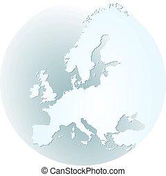 ヨーロッパ, 地図帳