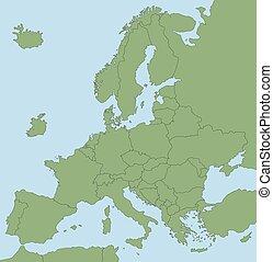 ヨーロッパ, 地図, brexit, なしで, gb