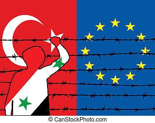 ヨーロッパ, 避難者, 2, つらい, 得なさい