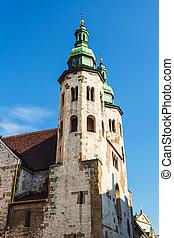 ヨーロッパ, krakow., poland., st., アンドリュー, 教会