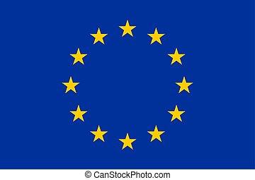 ヨーロッパ, union., ベクトル, 旗, illustration.