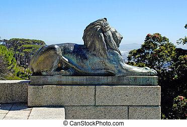 ライオン, ケープタウン, 南, アフリカ。, 銅