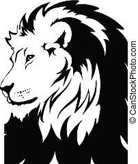 ライオン, ベクトル, 解釈, 頭