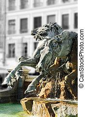 ライオン, 噴水, (france)