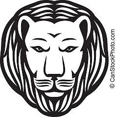 ライオン, 頭