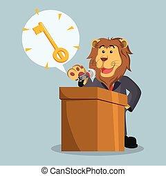 ライオン, callout, ビジネス, キー