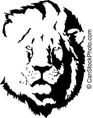 ライオン, tattoo-4, 頭