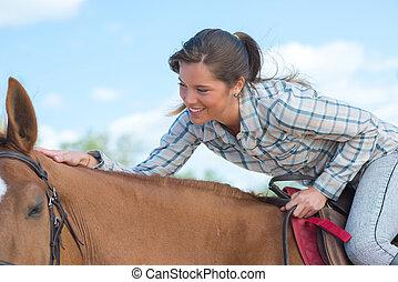 ライダー, 上に, 馬